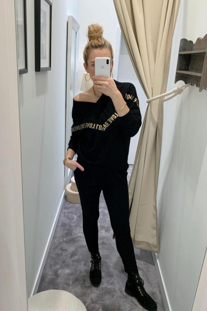 Bawełniana bluza Love w szpic