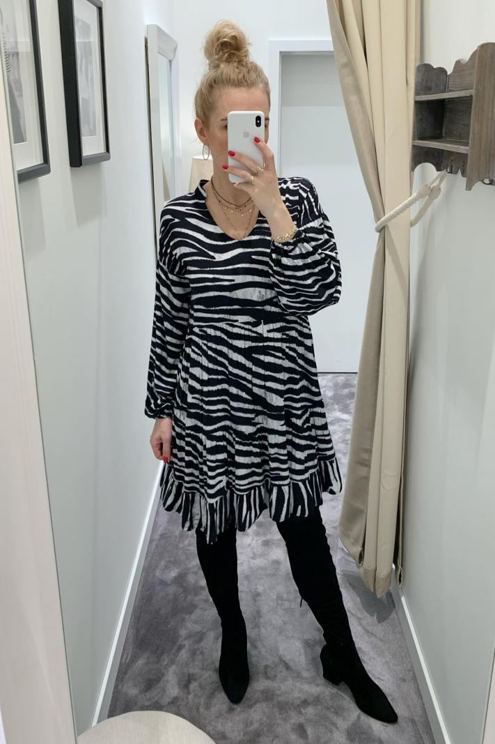 Sukienka zebra