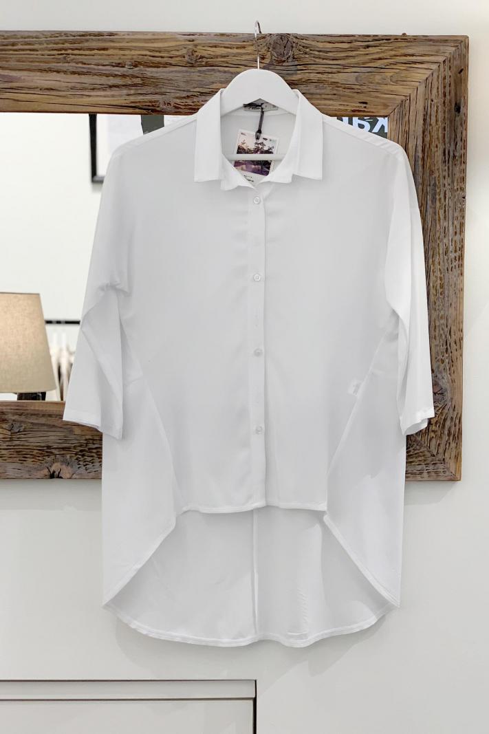 Koszula z przedłużonym tyłem