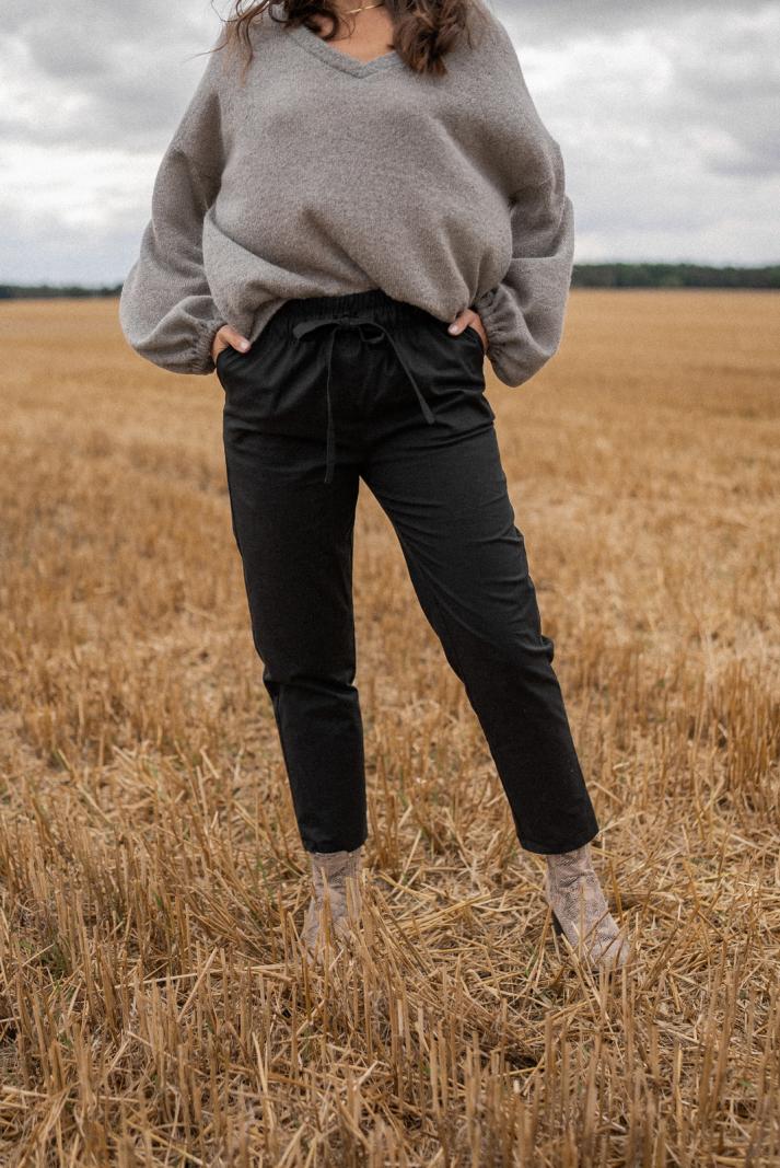 Spodnie London black
