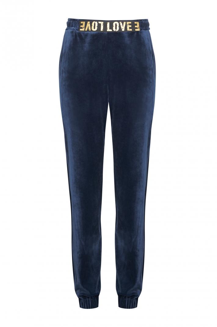 Welurowe spodnie Love